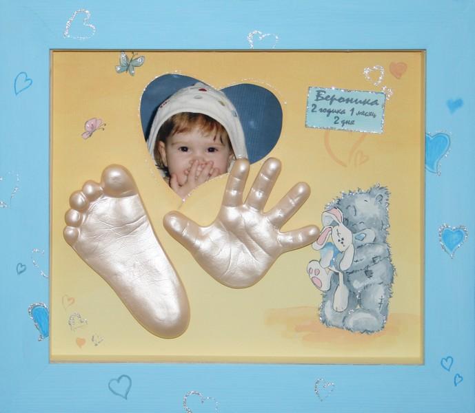 Отпечаток ноги ребенка своими руками 527